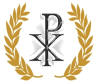 Chi Rho Laurel Wreath Symbol